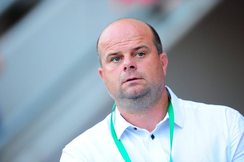 Fotbalové utkání Fortuna ligy mezi celky SK Slavia Praha  a MFK Karviná 28. července v Praze. Roman Nádvorník.