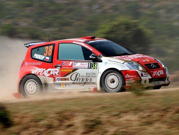 Martin Prokop na trati Italské rallye.