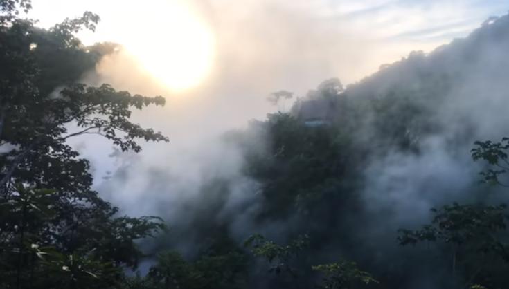 Vařící řeka v Amazonii