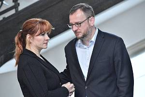 Bývalý premiér Petr Nečas (ODS) s maželkou Janou (dříve Nagyovou) na archivním snímku ze 14. září 2017