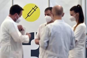 Očkovací centrum v Pelhřimově