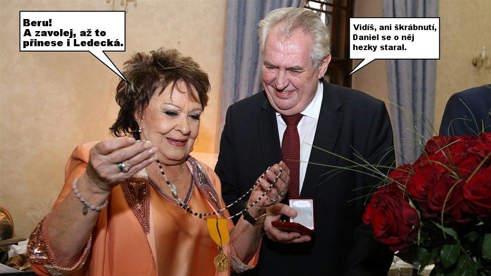 Daniel Hůlka se rozhodl Miloši Zemanovi vrátit vyznamenání, což okamžitě vyvolalo vtípky na téma, co se s onou medailí asi stane