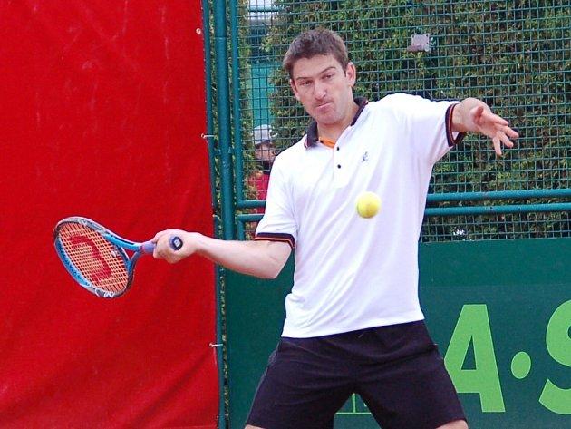 Jan Hájek na Czech Open v Prostějově.