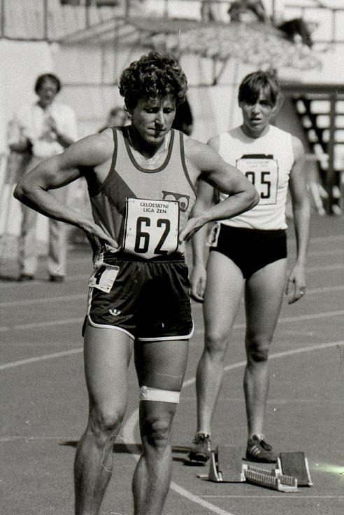 Jarmila Kratochvílová v roce 1987