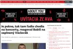 Zpráva slovenského deníku SME