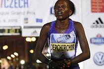 Světová rekordmanka v půlmaratonu Peres Jepchirchirová.