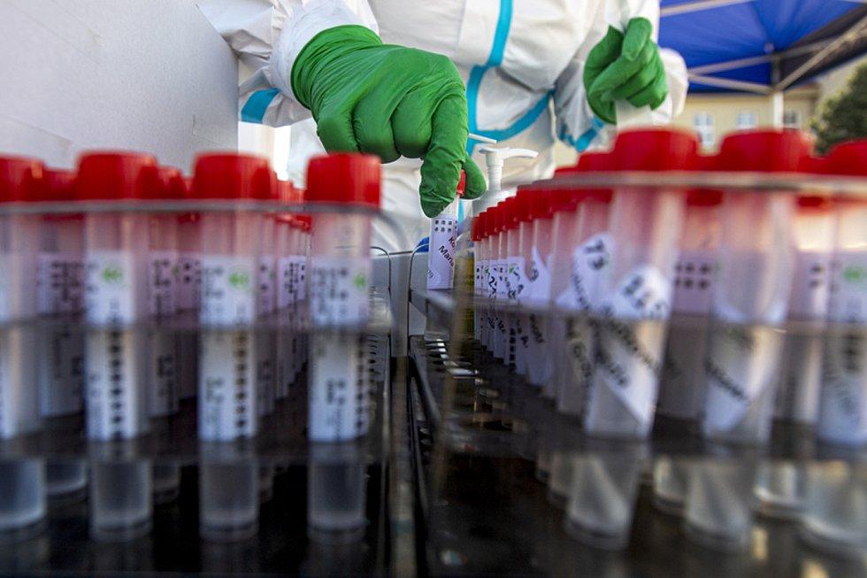 Odběr vzorků pro testování na nákazu koronavirem - ilustrační foto