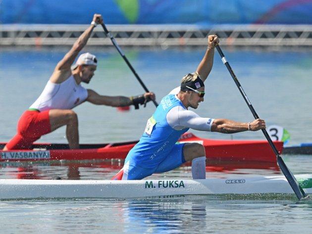 Kanoista Martin Fuksa (vpravo) na olympijských hrách v Riu.