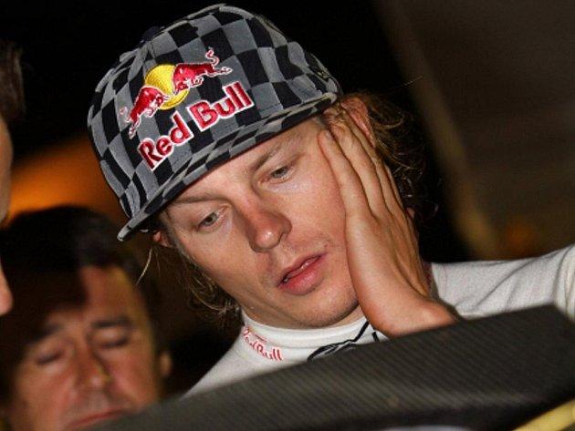Finský pilot Kimi Räikkönen.