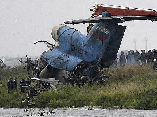 Trosky havarovaného letounu