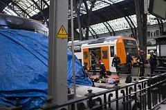 Nehoda vlaku na Francouzském nádraží v Barceloně.