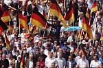 Demonstrace krajně pravicové AfD v Berlíně