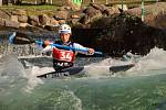 Finále Světového poháru ve vodním slalomu, 7. listopadu 2020 v Pau. Český kajakář Tomáš Zima skončil druhý.