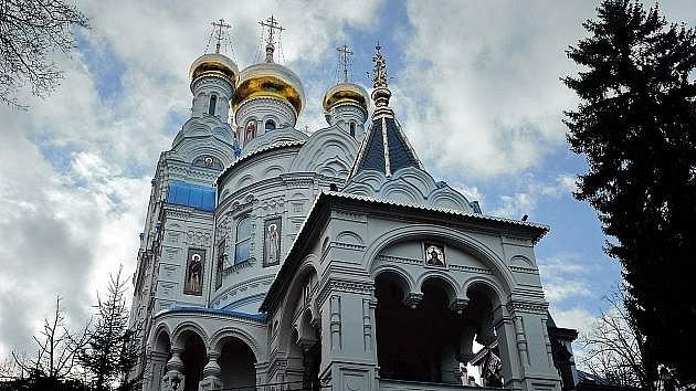 Pravoslavnýchrám svatých apoštolů Petra a Pavla vKarlových Varech