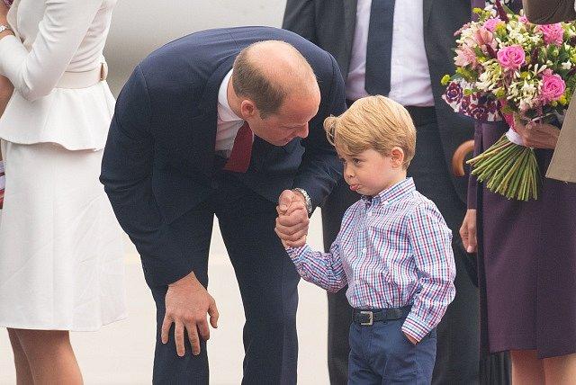 Princ William s malým princem Georgem