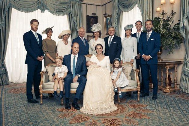 Oficiální portrét ze křtu prince Louise