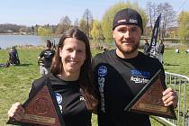 Čeští reprezentanti OCR v Maďarsku. Martina Fabiánová a Tomáš Tvrdík.
