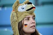 Německá fanynka. Fotbalové MS Rusko 2018
