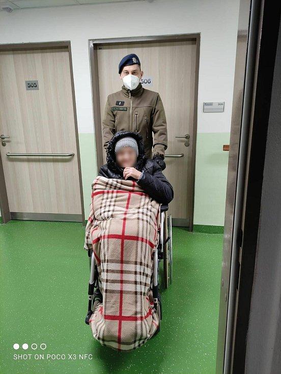 Nasazení v chebském domově pro seniory Skalka.