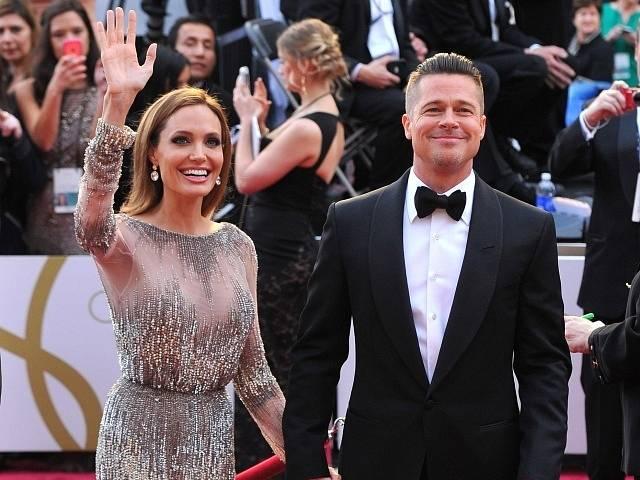 Angelina Jolie a Brad Pitt.
