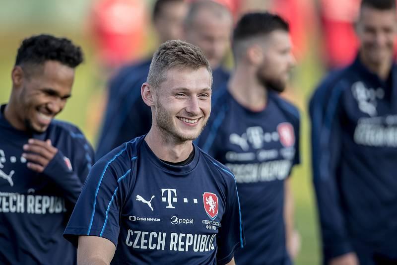 Trénink české fotbalové reprezentace před zápasem Ligy národů se Slovenskem 8. října v Praze.