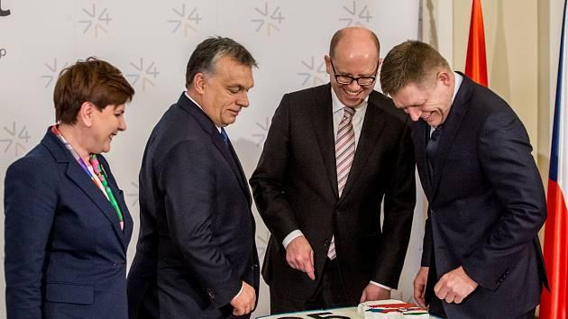 Summit Visegrádské čtyřky v Praze.