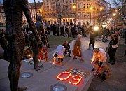 U památníku obětem komunismu uspořádala vzpomínkové setkání Konfederace politických vězňů