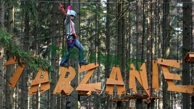 Tarzanie v Beskydech - největší lanový park u nás