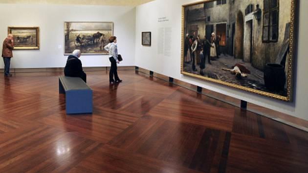 Výstava malíře Jakuba Schikanedera (1855 - 1924). Ilustrační foto.