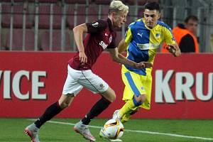 Zápas Evropské ligy Sparta Praha – Apoel Nicosia.
