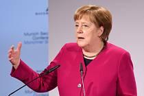 Angela Merkelová na bezpečnostní konferenci v Mnichově