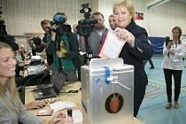 Předsedkyně konzervativců Erna Solbergová