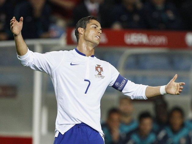 Střelec Portugalska Cristiano Ronaldo.