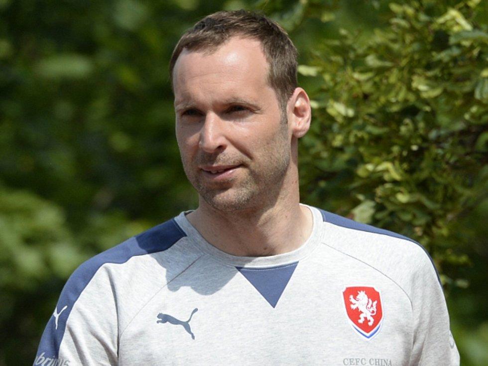 Petr Čech na srazu fotbalové reprezentace.