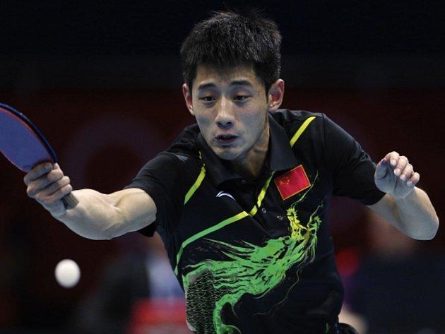 Čínský stolní tenista Čang Ťi-kche získal zlato ve dvouhře na olympijských hrách v Londýně.