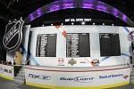 Pohled na tabuli draftu NHL.
