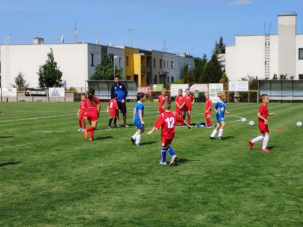 Fotbalový trénink dětí