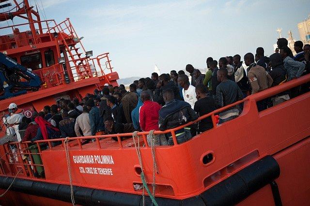 Migrace přes Středozemní moře. Ilustrační foto.