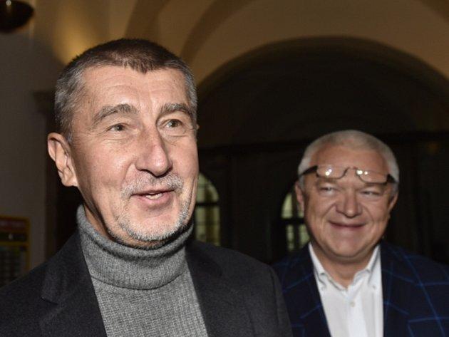 Andrej Babiš (vlevo) a Jaroslav Faltýnek.