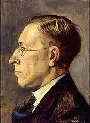 Frederick Grant Banting na portrétu od Tibora Polyi z roku 1925