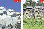 Mount Rushmore (USA) x Čertovy hlavy.