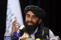 Tiskový mluvčí Tálibánu Zabihulláh Mudžáhid