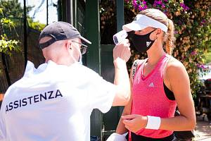 Měření teploty během tenisového turnaje v Palermu