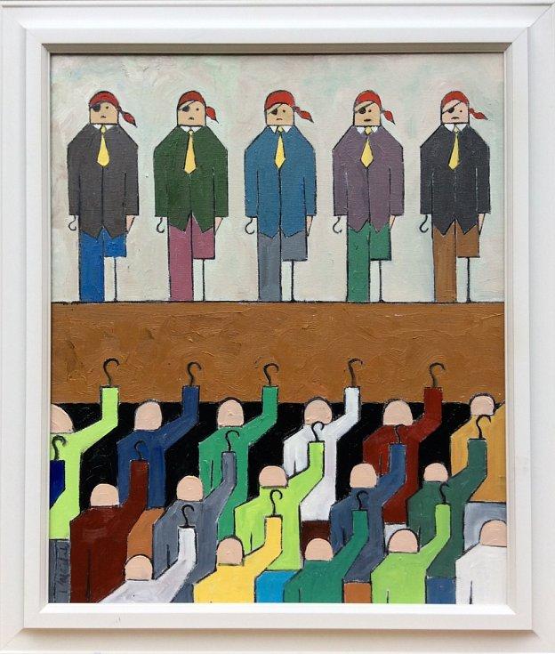 Obrazy Ivana Mládka mají obrácenou perspektivu.