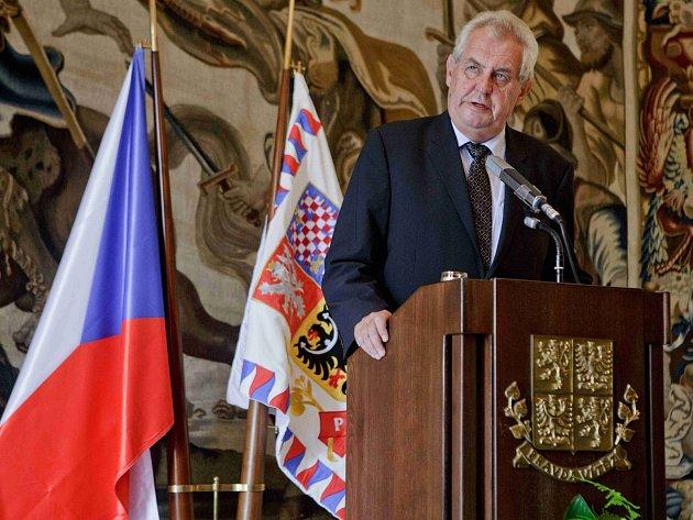 Prezident Miloš Zeman na tiskové konferenci 23. srpna v Praze oznámil termín předčasných voleb.