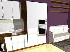 návrh kuchyně v obýváku