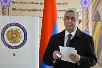 Bývalý arménský prezidnet Serž Sargsjan.