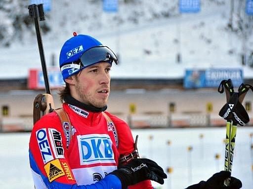 Český biatlonista Jaroslav Soukup po závodu SP v Ruhpoldingu.