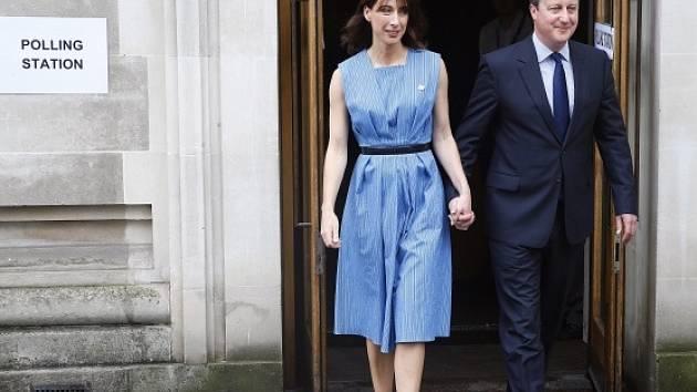 David Cameron se svou ženou