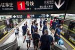 Veřejnou dopravou. Česká výprava se neplánovaně ocitla v šanghajském metru